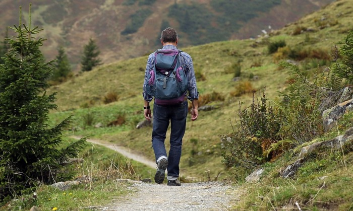 Away Backpack Hike Mountain Hiking Path Wanderer