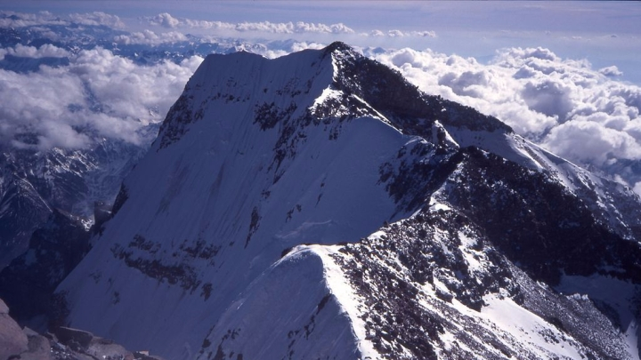 aconcagua mountain south summit in south america