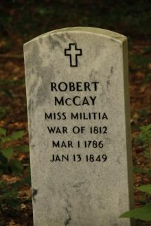 war of 1812 veteran gravestone