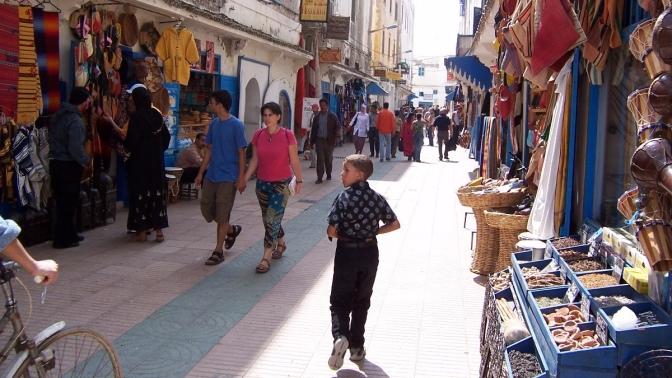 street bazaar in morocco north africa