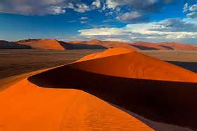 golden sand dunes in namibia africa