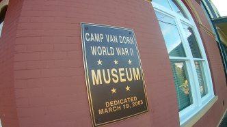 camp van dorn museum sign
