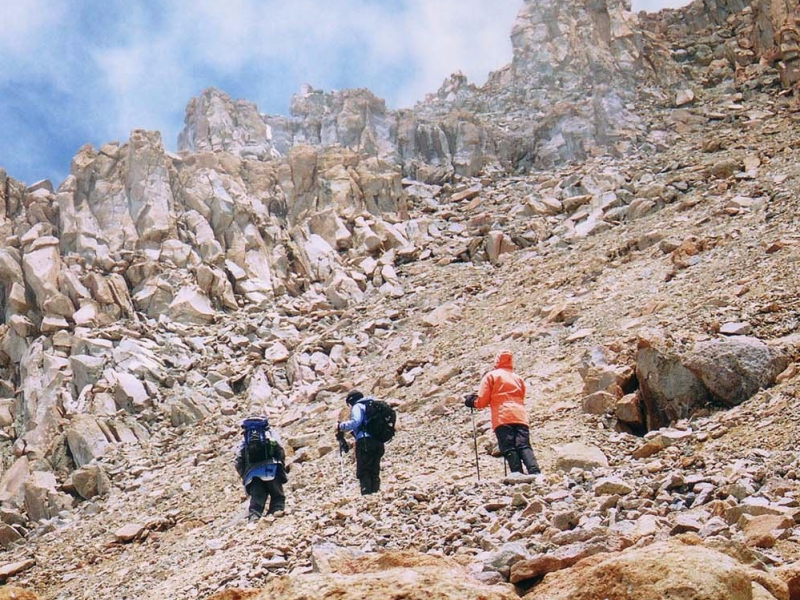 western breach - the most dangerous route on kilimanjaro